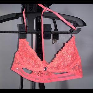 Free People Pink Lace Bra (32A)